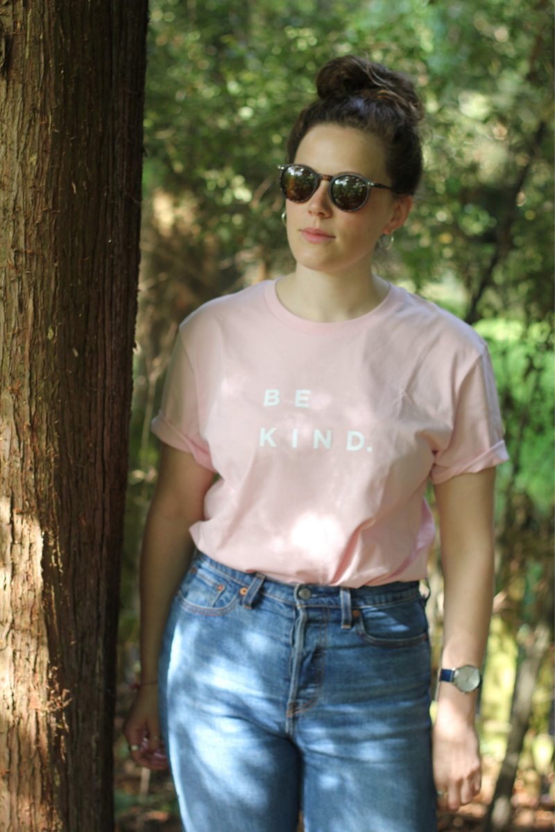 Be Kind Tee in Baby Pink