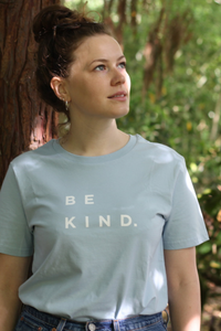 Self Care Co. - Be Kind Tee in Sky Blue