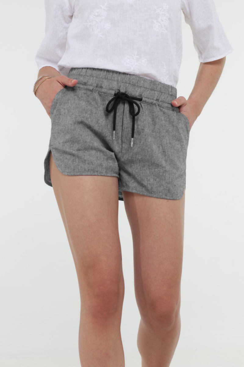 Ladies Jogger Shorts in Black