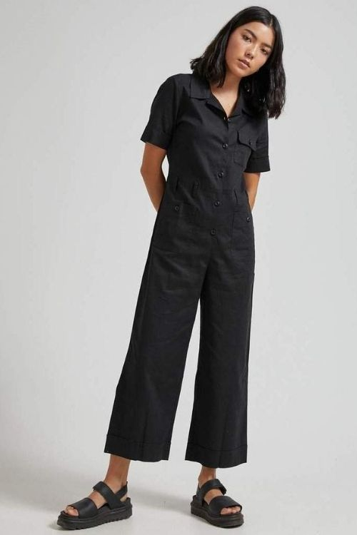 Afends - Harriet Hemp Jumpsuit in Black