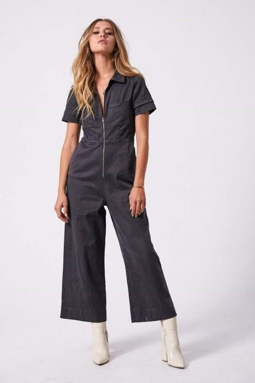 Afends - Cora Hemp Boilersuit in Raven