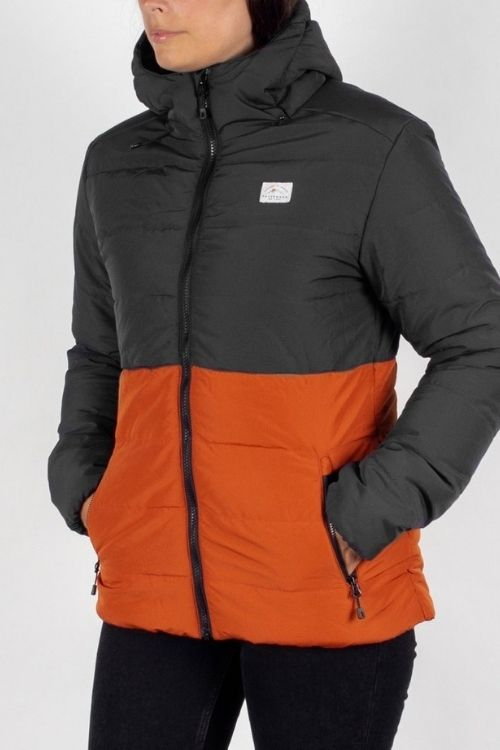Passenger - Jackpine Recycled & Insulated Jacket in Charcoal & Rust