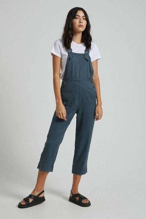 Afends - Koko Hemp Long Overall in Slate