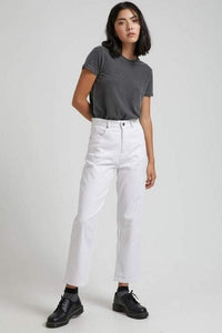 Afends - Shelby Hemp High Waist Wide Leg Jeans in White