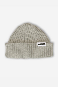 WAWWA - Zero Waste Recycled Beanie in Heather Grey