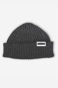 WAWWA - Zero Waste Recycled Beanie in Charcoal Grey