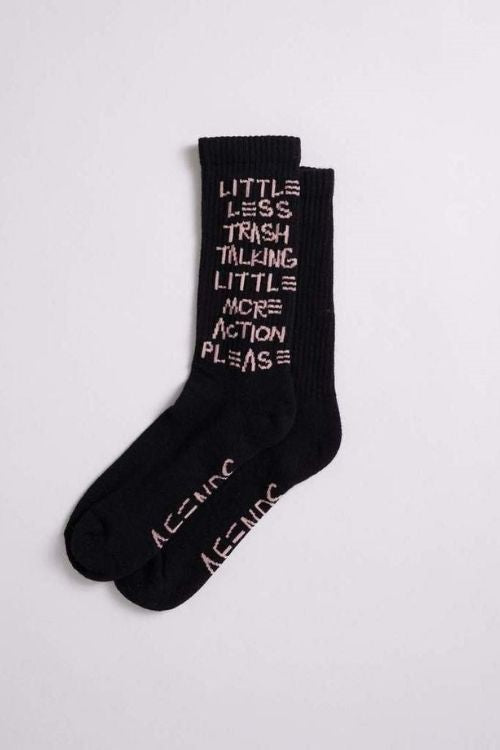 Afends - Trash Hemp Socks One Pack in Black