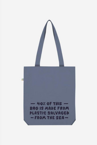 WAWWA - Swirl Recycled Tote Bag in Blue