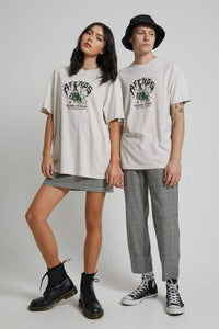 Afends - Wizardry Hemp Unisex Retro Fit Tee in Moonbeam