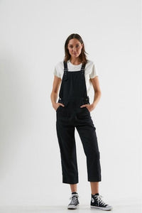 Afends - Koko Hemp Long Overall in Black