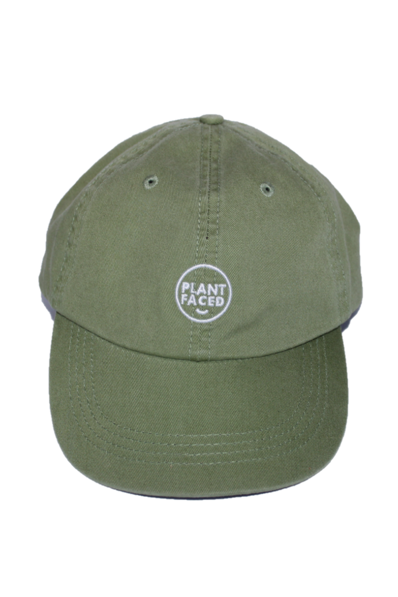 Plant Faced - Dad Hat in Forest Green