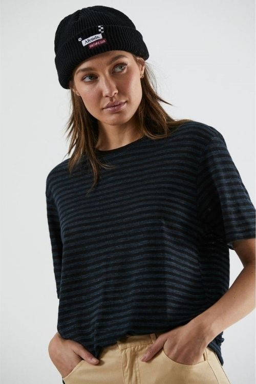 Afends - Emi Hemp Boyfriend Tee in Slate