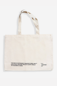 Leiho - Bag to Basics Tote Bag in White