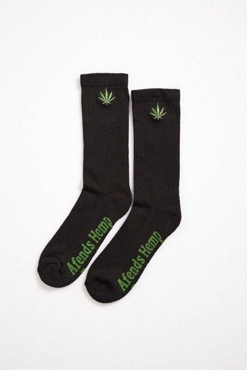 Afends - Unisex Happy Hemp Socks in Black
