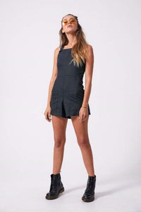Afends - Nirvana Hemp Playsuit in Black