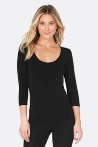 Boody - Scoop Top in Black