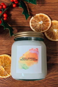 Neroli, Rosemary, Grapefruit and Lavender Aromatherapy Candle