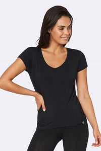 Boody - V-Neck Shirt in Black