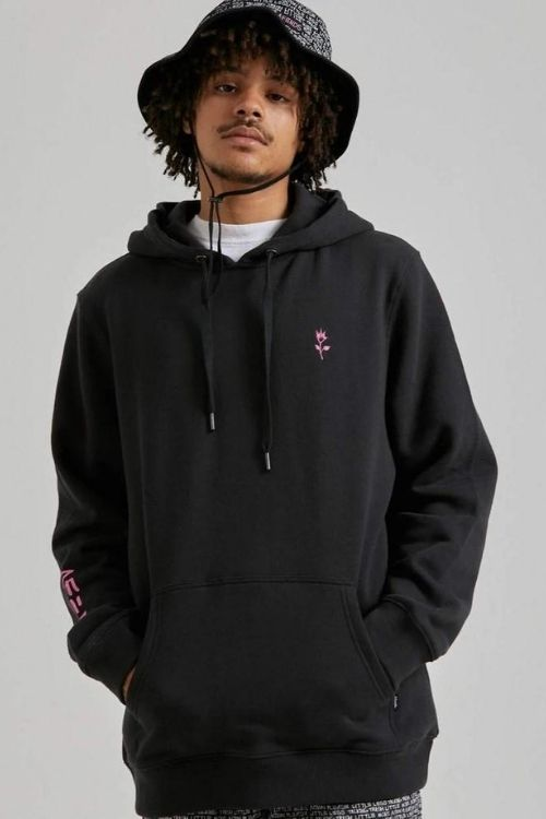 Afends - Unisex Chop Hop Pull on Hood in Black