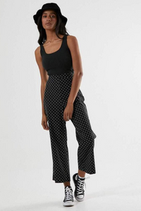 Afends - Maria Motel Pant in Black Polka