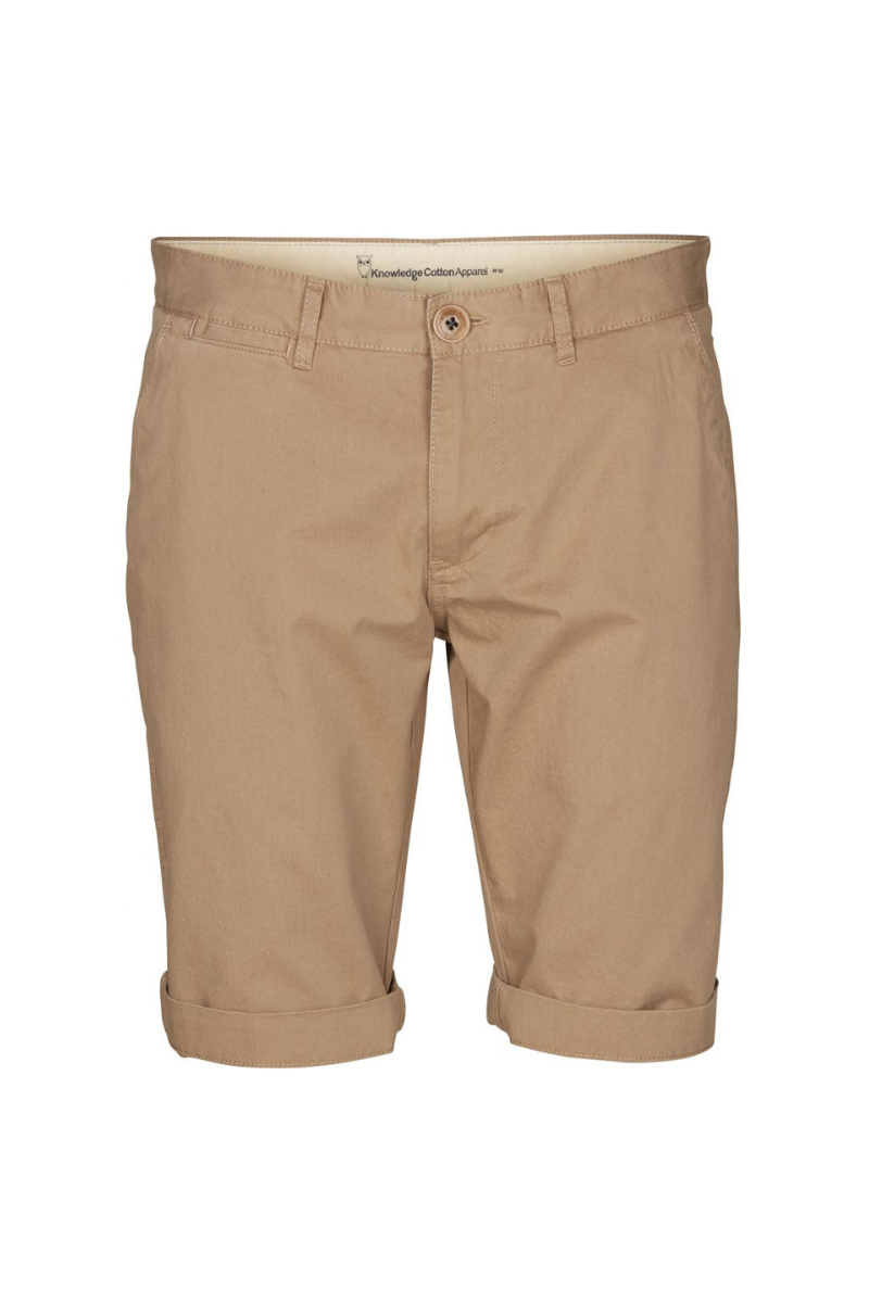 Knowledge Cotton Apparel - Chino Short in Beige