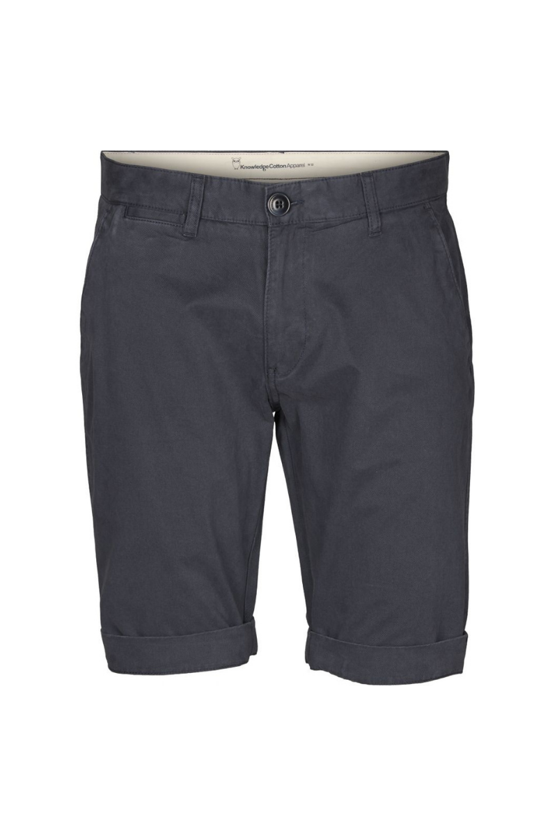 Knowledge Cotton Apparel - Chino Short in Total Eclipse