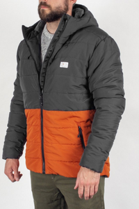 Passenger - Patrol Recycled & Insulated Jacket in Charcoal & Rust