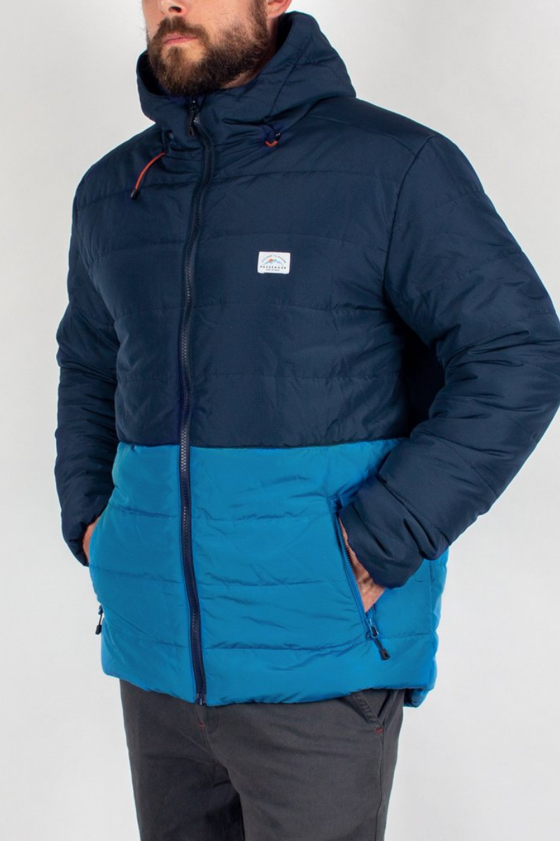 Passenger - Patrol Recycled & Insulated Jacket in Navy & Deep Water Blue
