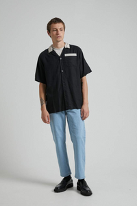 Afends - Bowlo Hemp Cuban Short Sleeve Shirt in Black