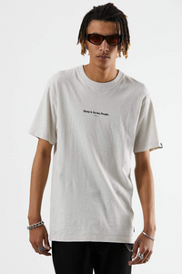 Afends - For The People Hemp Retro Fit Tee in Moonbeam
