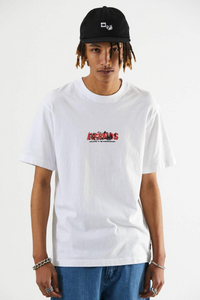 Afends - Social Burnout Retro Fit Tee in White