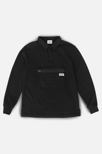 Jonah Organic Rugby Sweatshirt in Black