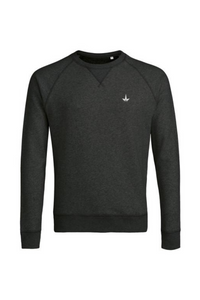 Sweatshirt - Charcoal Embroidered Logo Crew Neck