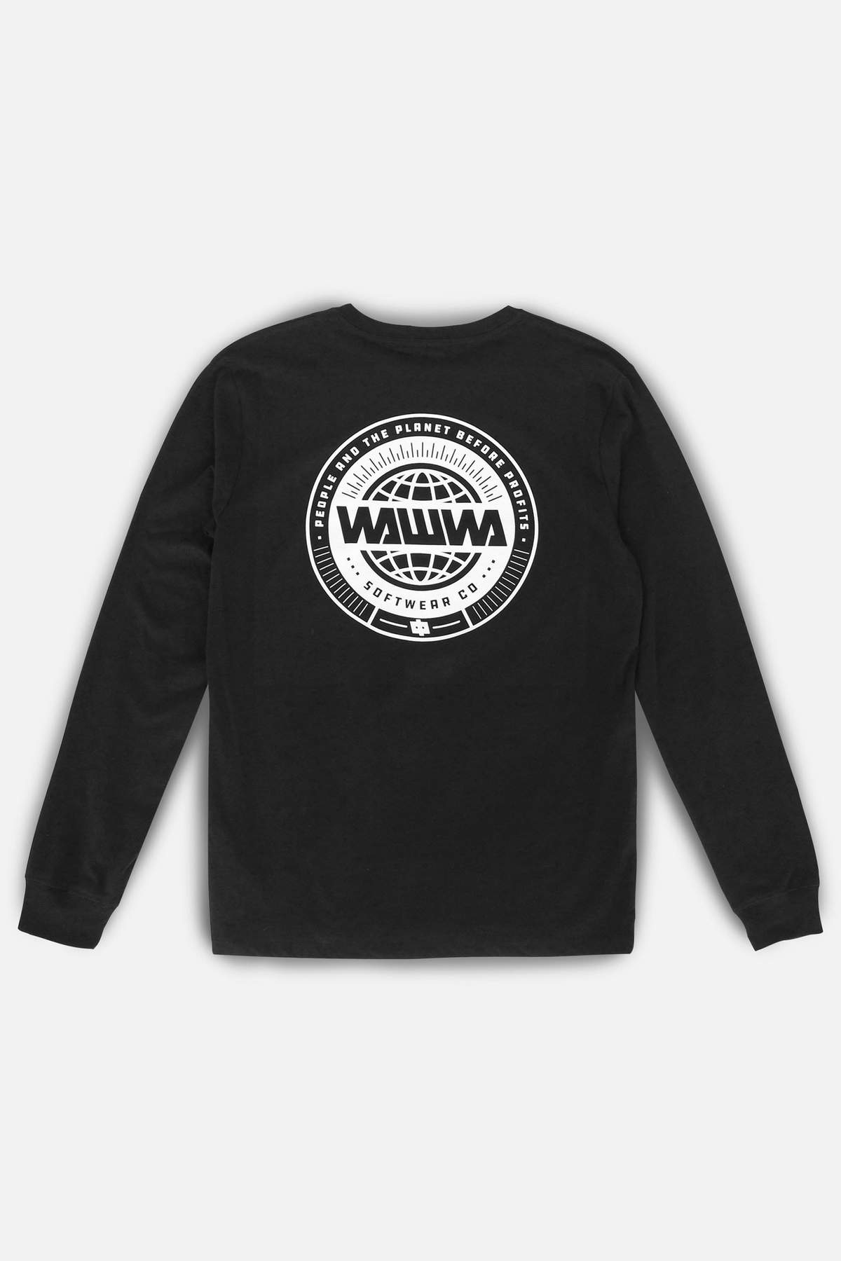 Logo Long Sleeve Organic T-Shirt in Black