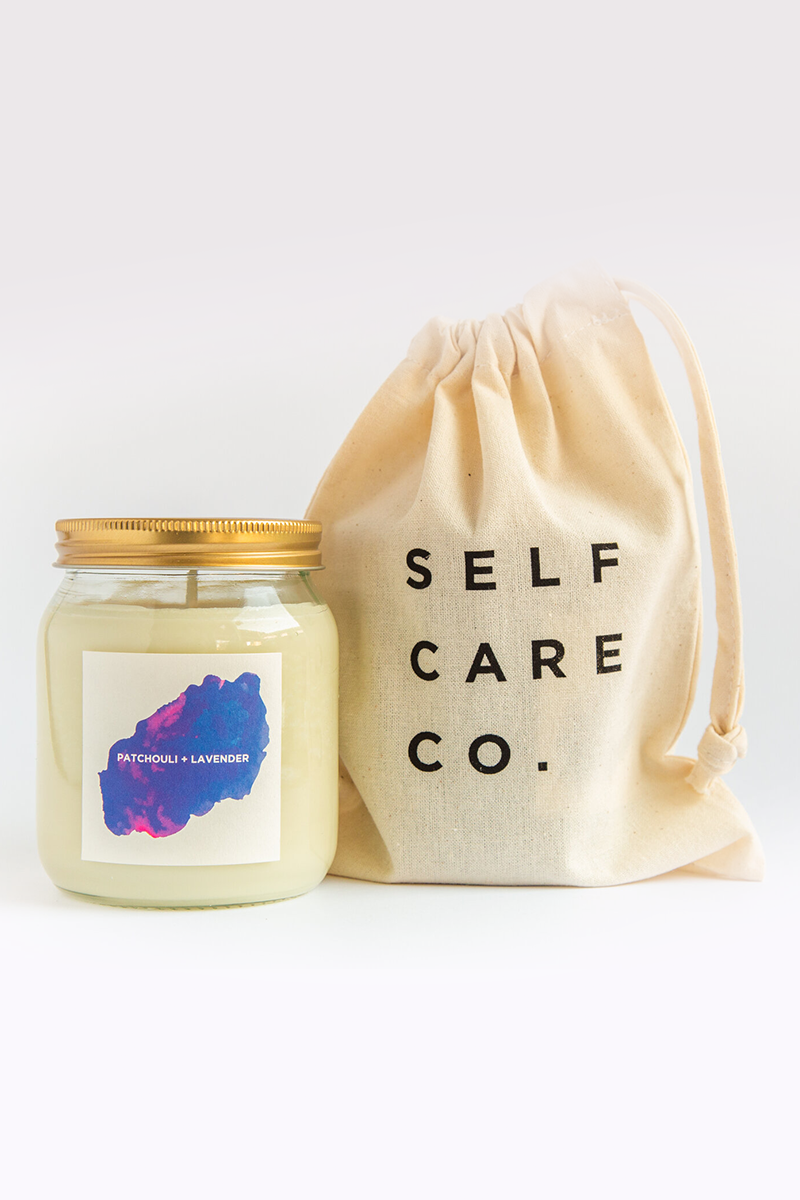 Self Care Co. - Patchouli and Lavender Aromatherapy Candle