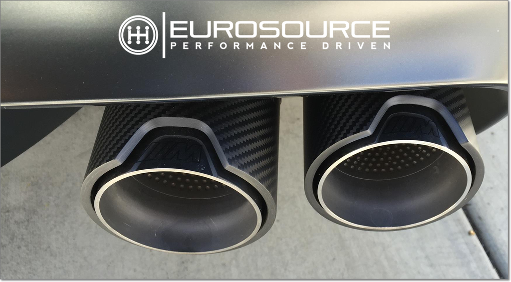 BMW carbon fiber exhaust tips