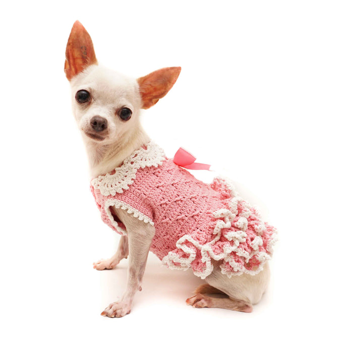 Fancy Pup Pink Ruffle Dress