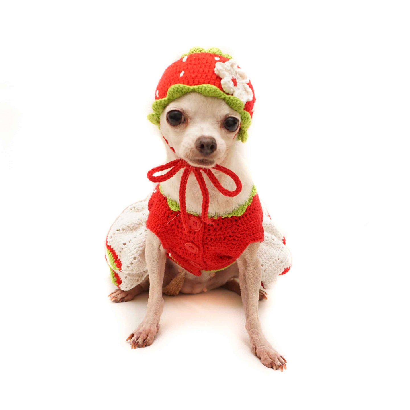 Sweet Strawberry Outfit with Strawberry Hat