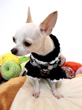 Load image into Gallery viewer, Black and White Knitted Dog Sweater Dress