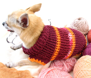 Red and Orange Turtleneck Sweater