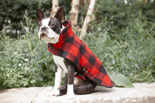 Load image into Gallery viewer, Red Buffalo Plaid Cape Jacket