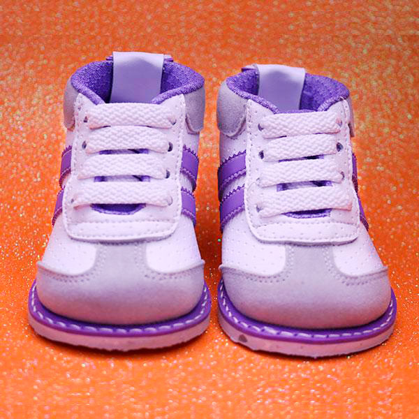 Zapatos No Tuerce Morado - Blanco