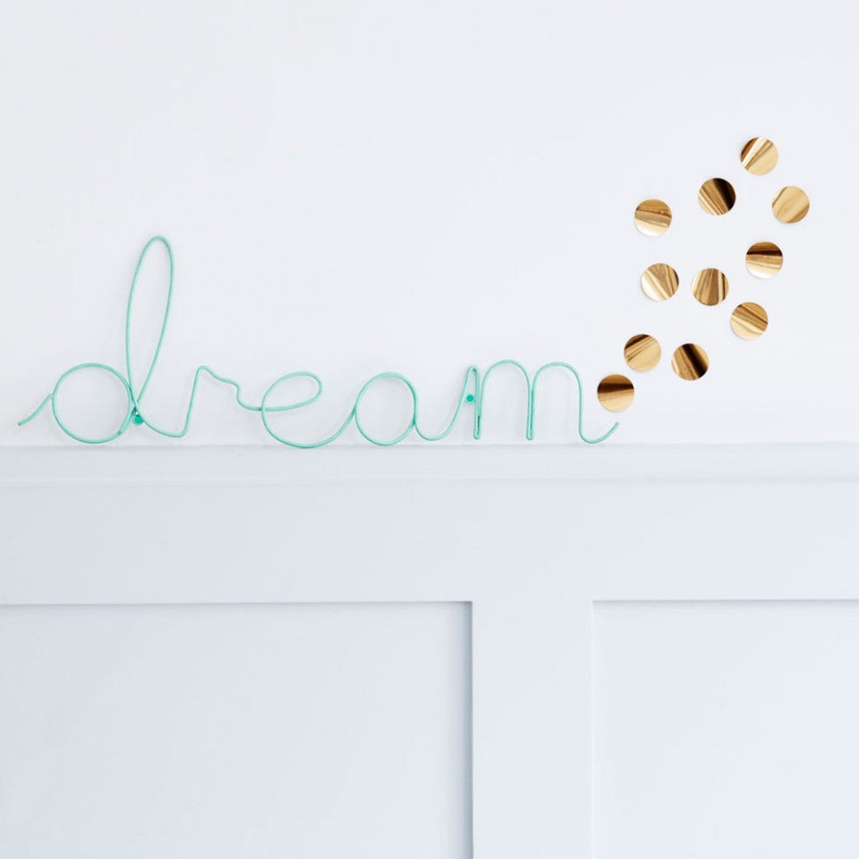 Dream Wire Word Art