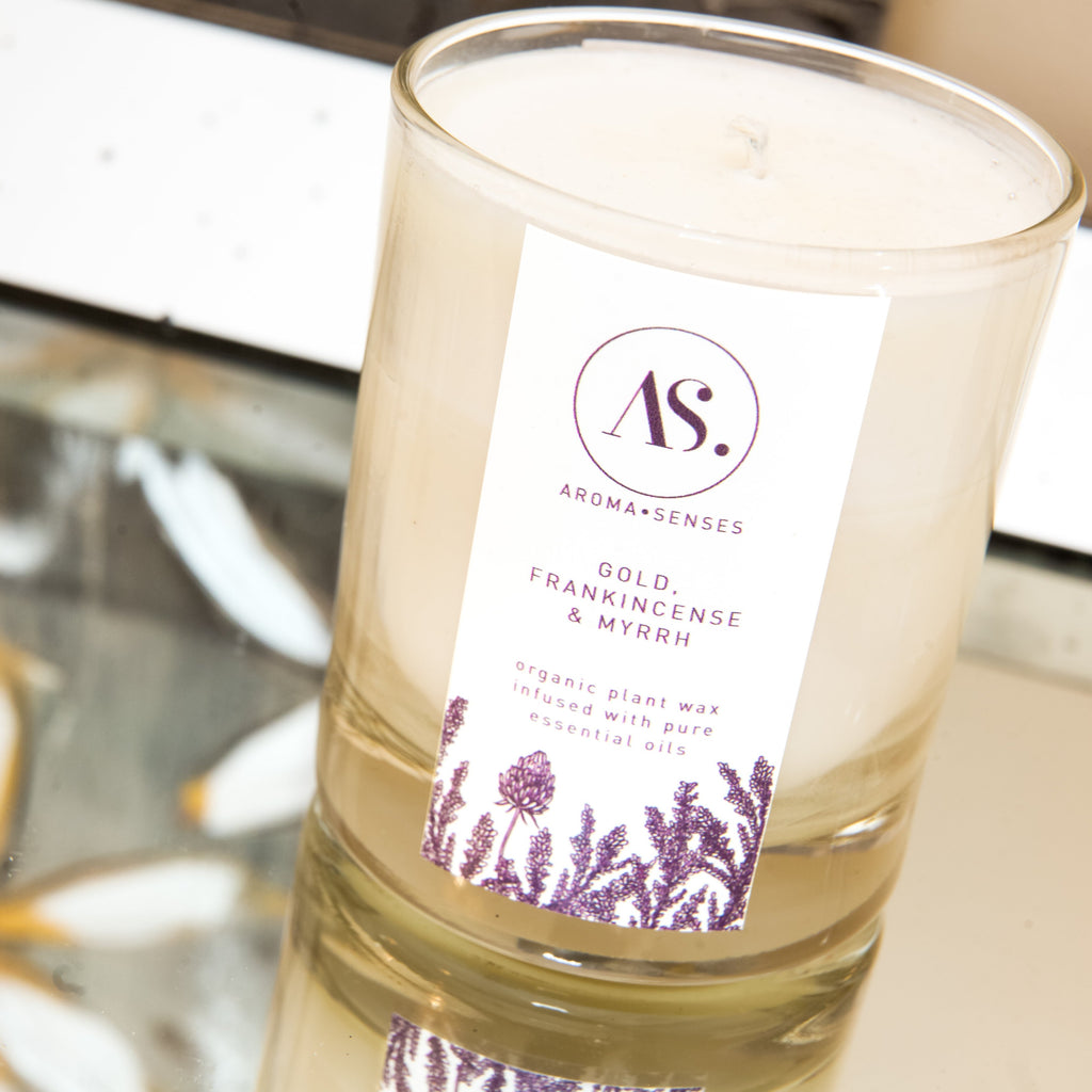 Aroma Senses Glass Candle 30cl