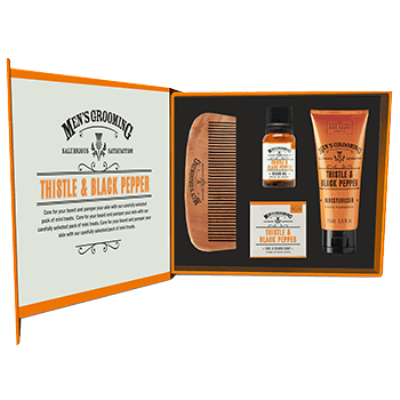 Men's Thistle & Black Pepper Face & Beard Care Kit