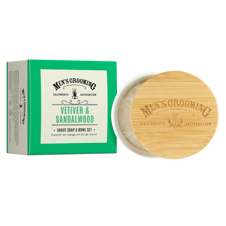 Vetiver and Sandalwood Shave Soap and Bowl Set (100g)
