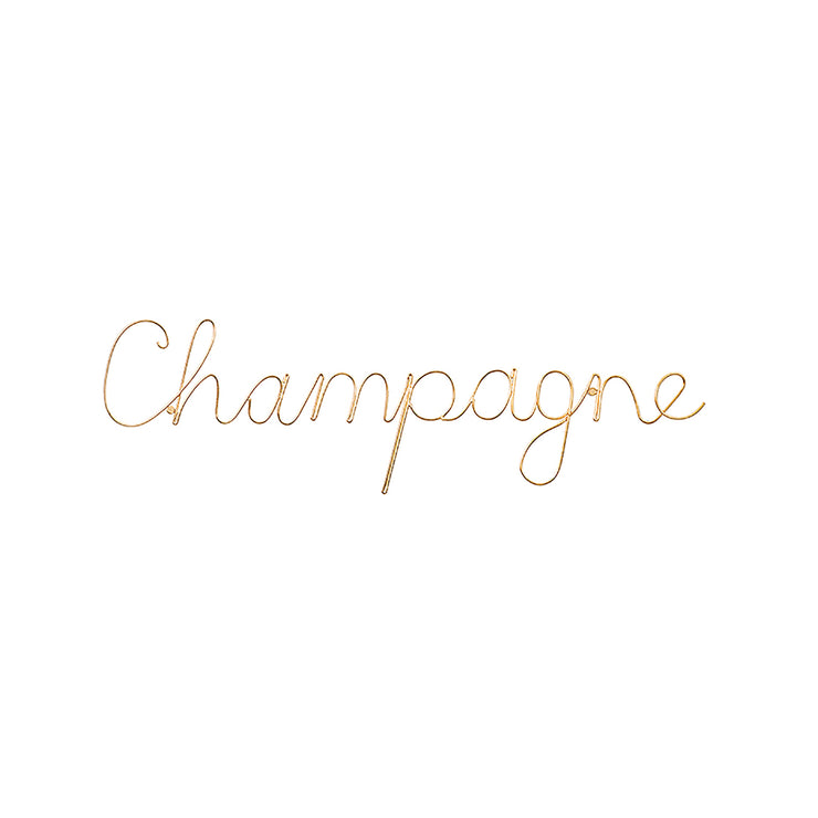 Champagne Gold Wire Word Art