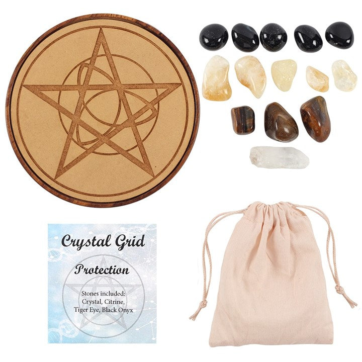 Protection Healing Crystal Grid 15cm