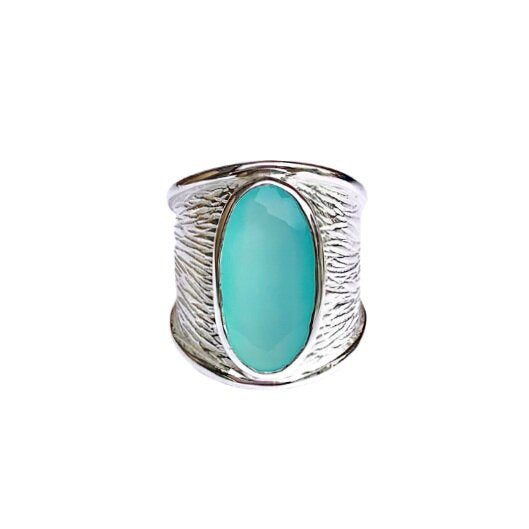 Lord of the Rings -Aqua Chalcedony
