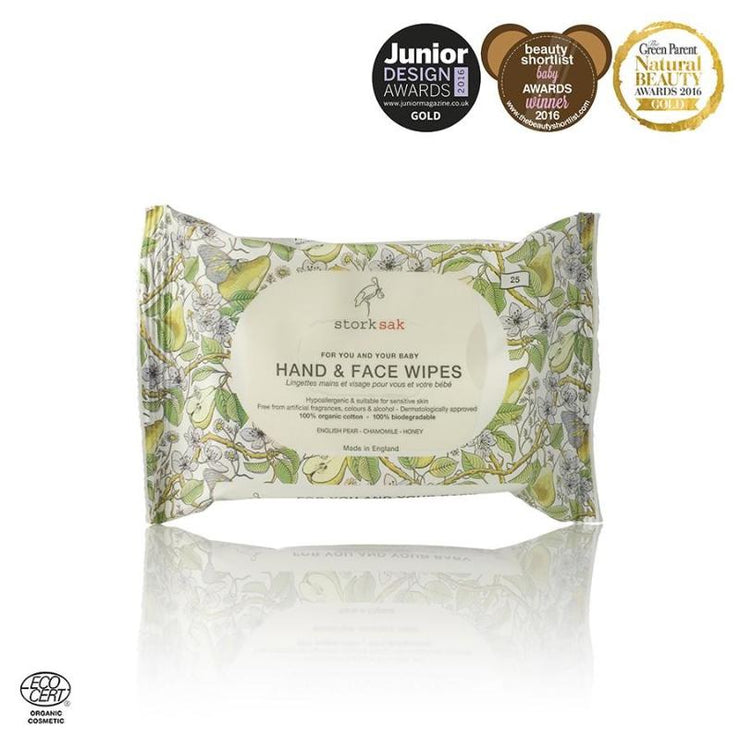 Storksak Organics Hand & Face Wipes